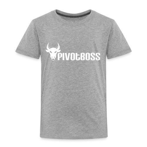 PivotBoss White Logo - Toddler Premium T-Shirt