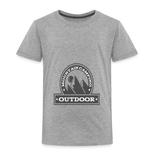OUTDOOR MOUNTAIN CAMPING Motivational - Toddler Premium T-Shirt