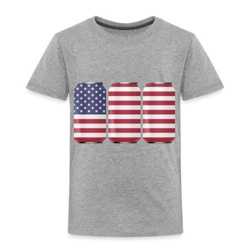 beer can USA Flag - Toddler Premium T-Shirt