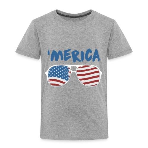 Merica 4th of July - Toddler Premium T-Shirt