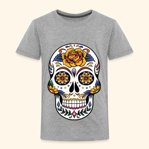 Men Women Flower Sugar Skull Shirt Day of the Dead - Toddler Premium T-Shirt