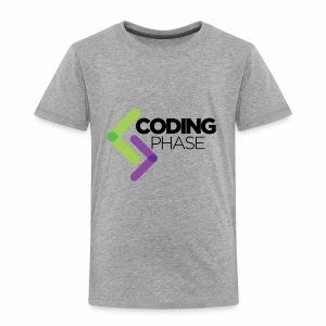 CodingPhase logo Black - Toddler Premium T-Shirt