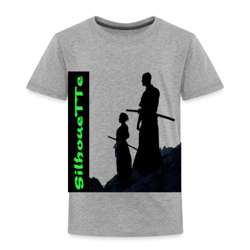 Silhouette Father and son Samurai - Toddler Premium T-Shirt