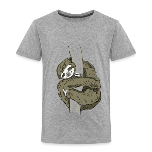 Sloth Animal cute Slow Nerd sleep chill out nap - Toddler Premium T-Shirt