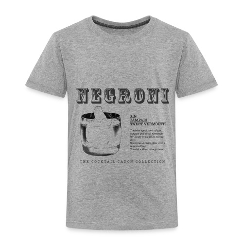 NEGRONI - THE COCKTAIL CANON COLLECTION #1 - Toddler Premium T-Shirt