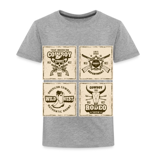 American Cowboy Rodeo Show Wild West Collection - Toddler Premium T-Shirt