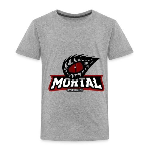 Mortal Esports Full Logo Design (Black) - Toddler Premium T-Shirt