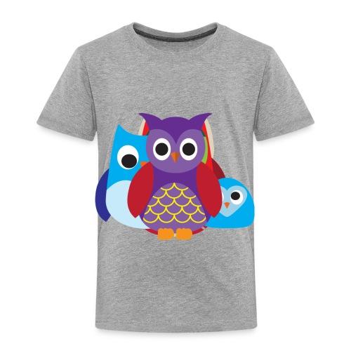 Cute Owls Eyes - Toddler Premium T-Shirt
