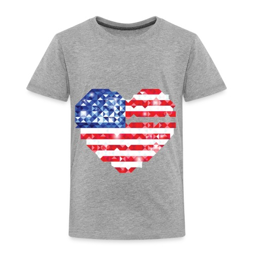 American Flag Heart Shirt - Toddler Premium T-Shirt