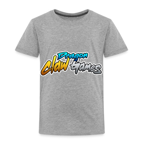 Dragon Claw Games - Text Logo - Toddler Premium T-Shirt