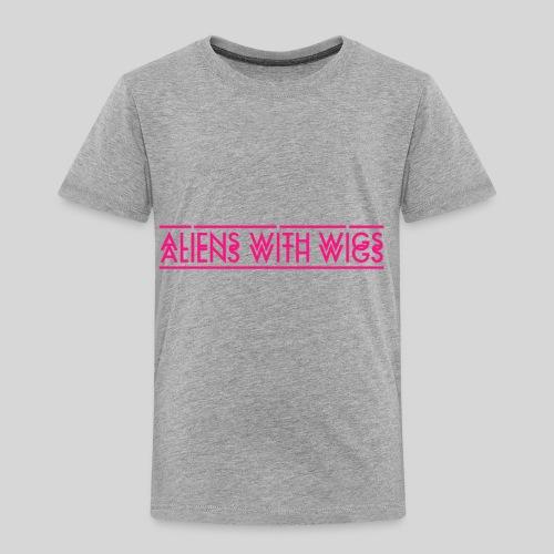 AliensWithWigs-Logo-Rose - Toddler Premium T-Shirt