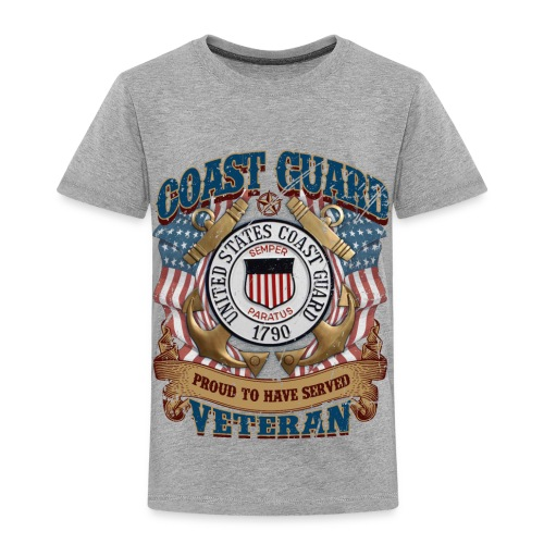 US COAST GUARD PROUD TO HAVE SERVED VETERAN - Toddler Premium T-Shirt