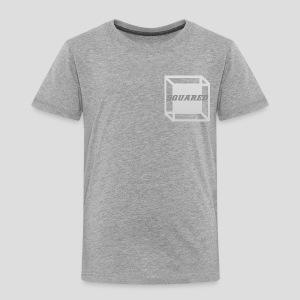Squared Apparel Logo White / Gray - Toddler Premium T-Shirt