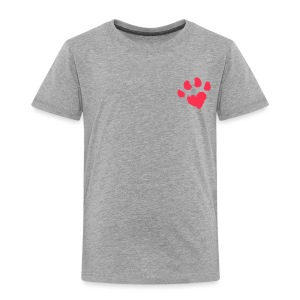 Unconditional Paw Heart - Toddler Premium T-Shirt