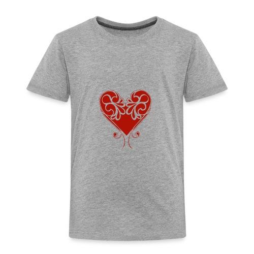 A Splash of Love Heart Design Baby One Piece - Toddler Premium T-Shirt
