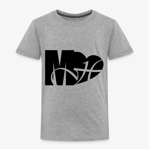 Mo Heart Solid White - Toddler Premium T-Shirt