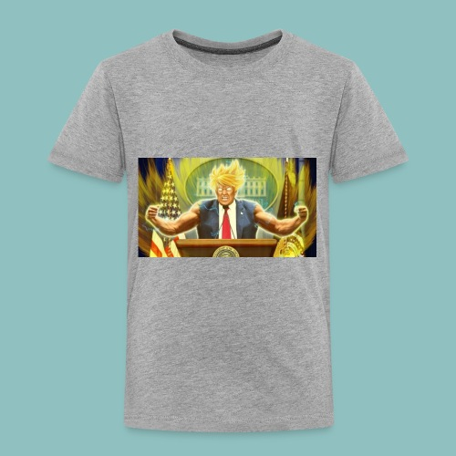 Donald Trump goes Super Saiyan - Toddler Premium T-Shirt