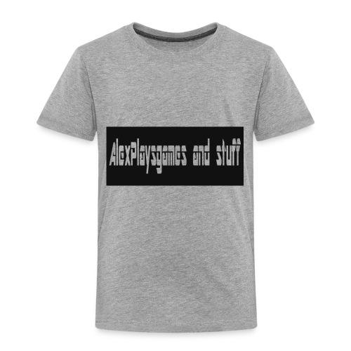 AlexPlaysgames and stuff design - Toddler Premium T-Shirt