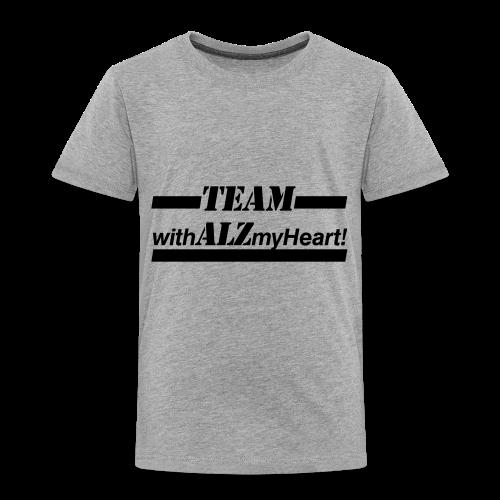 Team withALZmyHeart Logo Wear - Toddler Premium T-Shirt
