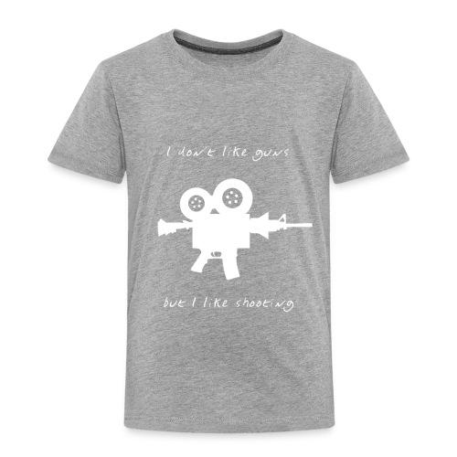 I don't like Guns collection #1 (white) - Toddler Premium T-Shirt