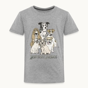 DOGS-SENTIENT BEINGS-white text-Carolyn Sandstrom - Toddler Premium T-Shirt