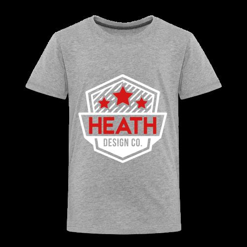 Red and White Logo - Toddler Premium T-Shirt