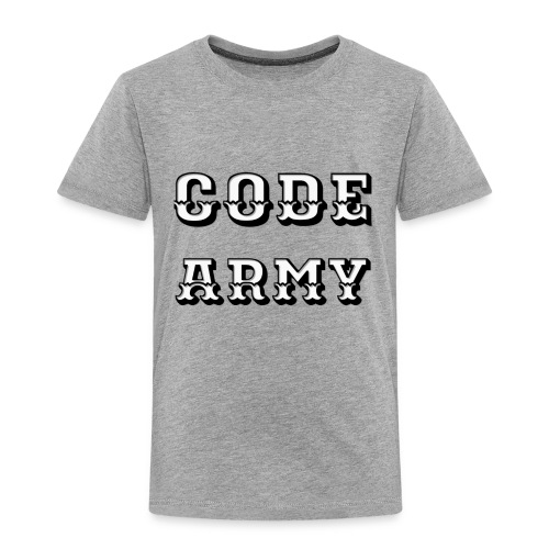 Code Army TShirt - Toddler Premium T-Shirt
