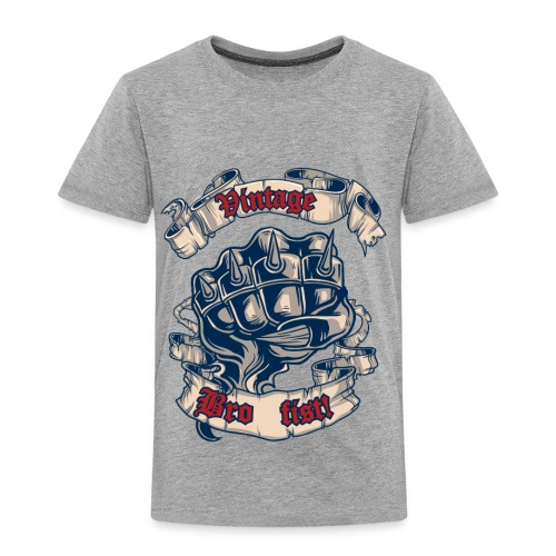 Vintage bro fist - Toddler Premium T-Shirt