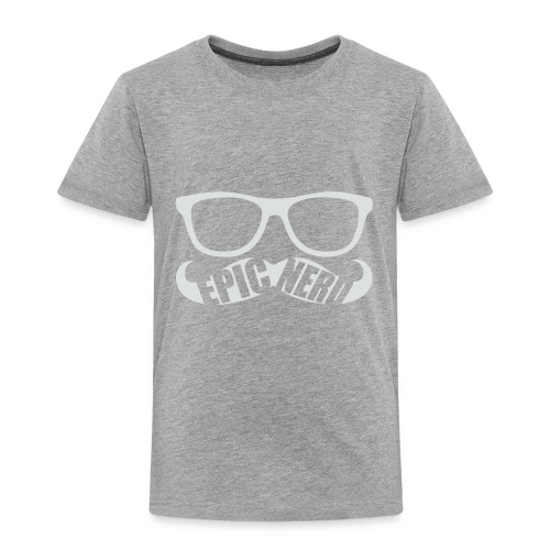 White Epic Nerd Logo - Toddler Premium T-Shirt