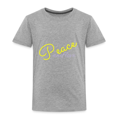 Peace and love clothing - Toddler Premium T-Shirt