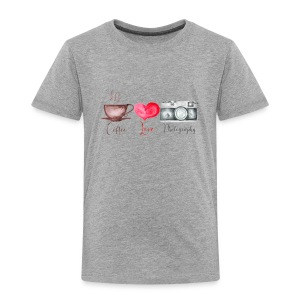 Coffee Love and Photography - Toddler Premium T-Shirt