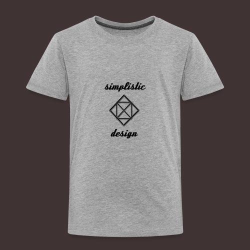 Simplistic Design Logo With Text - Toddler Premium T-Shirt