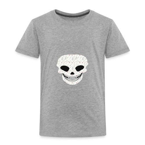 Skull Flowers Cute Death - Toddler Premium T-Shirt