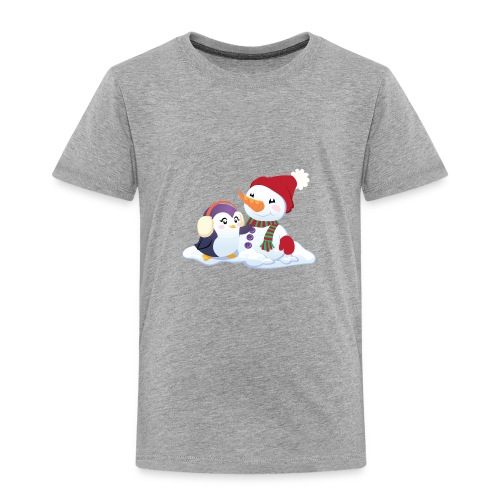 Penguin & Snowman Winter Friends - Toddler Premium T-Shirt