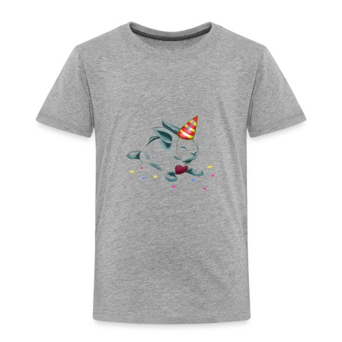 Birthday Bunny (or Unicorn Bunny) - Toddler Premium T-Shirt