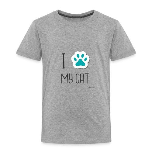 I love my cat - Toddler Premium T-Shirt