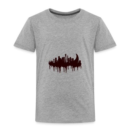 Seattle Moon and Skyline - Toddler Premium T-Shirt