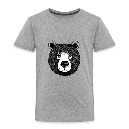 The head of bear - Toddler Premium T-Shirt