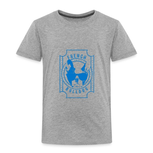 French Bulldog Blue - Toddler Premium T-Shirt
