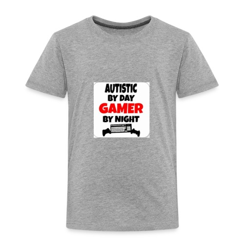 Autistic By Day Gamer By night - Toddler Premium T-Shirt