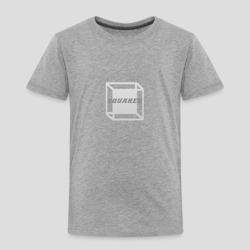 Squared Apparel Logo White / Gray - Toddler Premium T-Shirt