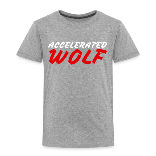 Accelerated Wolf Text Merch - Toddler Premium T-Shirt