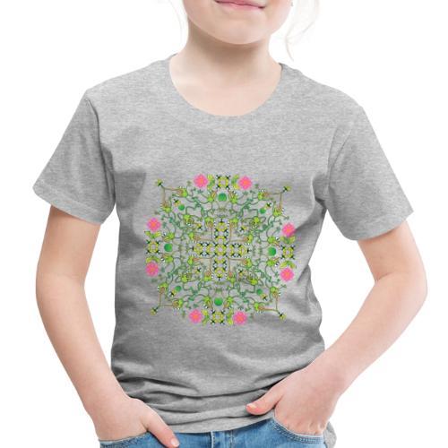 Funny green frogs hunting flies mandala design - Toddler Premium T-Shirt