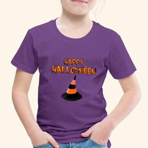 HAPPY HALLOWEEN WITCH HAT TEE - Toddler Premium T-Shirt