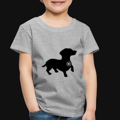 Dachshund love silhouette black - Toddler Premium T-Shirt