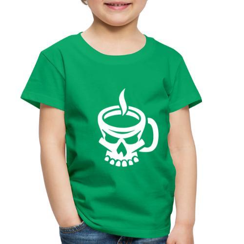 Caffeinated Coffee Skull - Toddler Premium T-Shirt