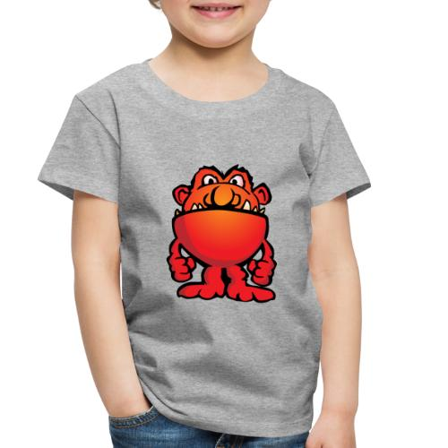 Cartoon Monster Alien - Toddler Premium T-Shirt