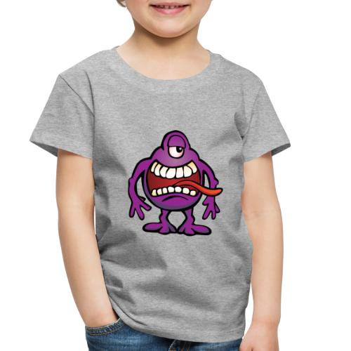 Cartoon Monster Alien - Toddler Premium T-Shirt
