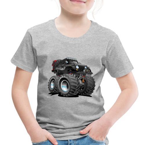 Off road 4x4 black jeeper cartoon - Toddler Premium T-Shirt