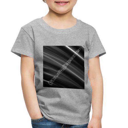 Clarinet · Black & White - Toddler Premium T-Shirt